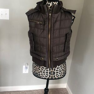Brown Down vest